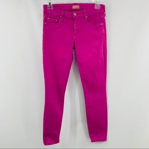 Mother The Looker Atomic Pink Five Pocket Jeans